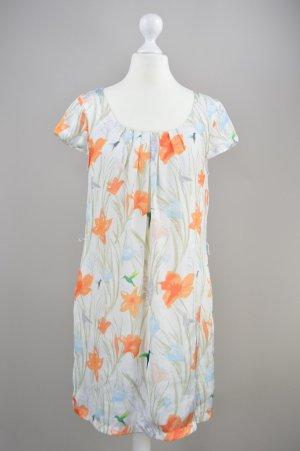 H&M Kleid mit Blumenmuster mehrfarbig Größe 36