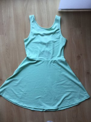 H&M Abito cut out verde pallido