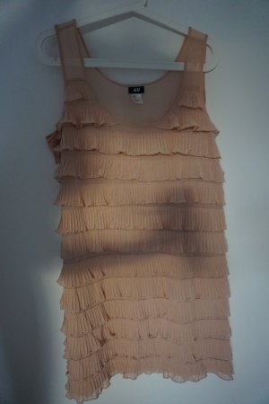 H&M Kleid mit kleinen Volants rosa