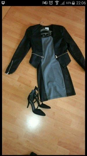 H&M Kleid mit Lederansatz