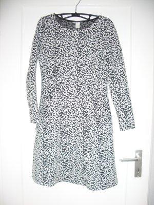 H&M Kleid mit Leo Print schwarz weiß Gr. S