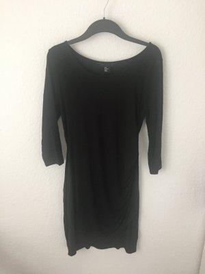 H&M Kleid mit Raffung Schwarz