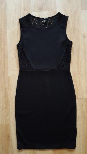 H&M Kleid mit Spitze Gr. XS 34 *** NEU ***