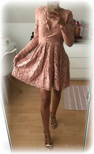 H&M Babydoll-jurk stoffig roze-roségoud