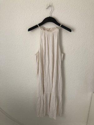 H&M Vestido estilo flounce blanco puro-crema