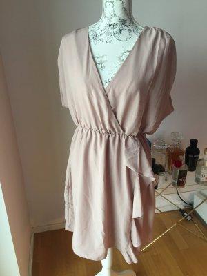 H&M Kleid mit Volants Gr 44 rose nude