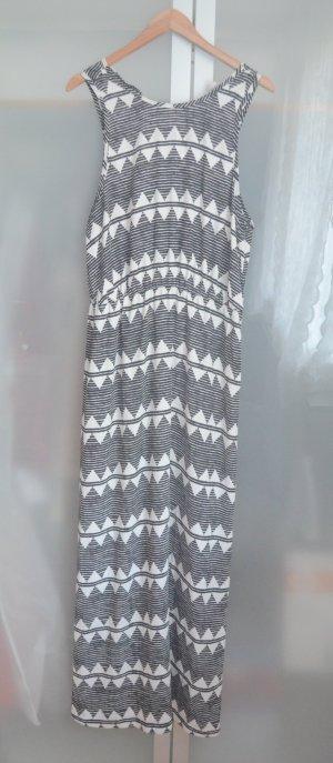 H&M Kleid Muster Schwarz Weiß