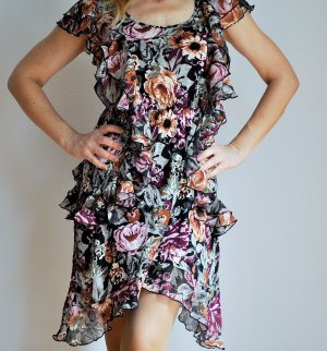 H&M Flounce Dress multicolored