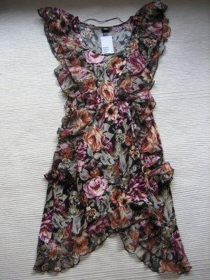 H&M kleid neu blumen gr. s 36 sommer