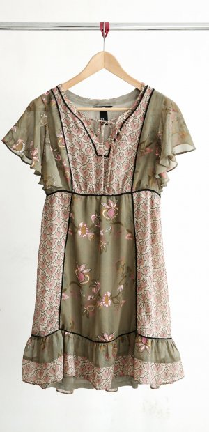 H&M Robe Babydoll multicolore polyester