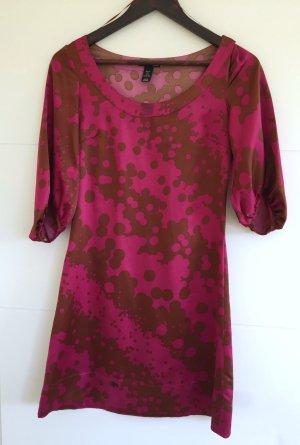 H&M Kleid pink-braun