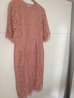 H&M Kleid rosa Spitze NEU