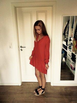 H&M Kleid Rot Silber Perlen Pailletten Rot 34 XS Blogger