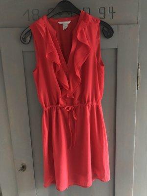 H&M Chiffon jurk rood
