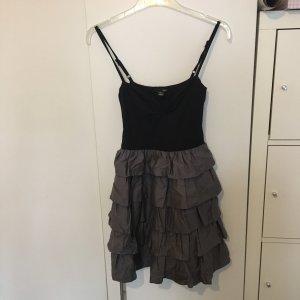 H&M Kleid Rüsschen XS schwarz/grau Top Zustand!!