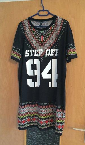 H&M Kleid schwarz bunt Print gr. M Blogger