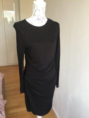 H&M Kleid schwarz gerafft Gr 40 neu