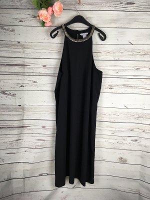H&M Kleid Schwarz mit Perlen am Kragen 40
