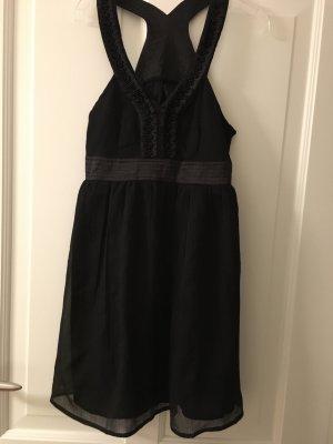 H&M Kleid schwarz mit Perlen XS Babydoll