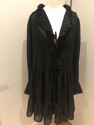 H&M Kleid schwarz mit Pünktchen