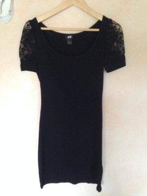 H&M Kleid schwarz mit Spitze Gr.S