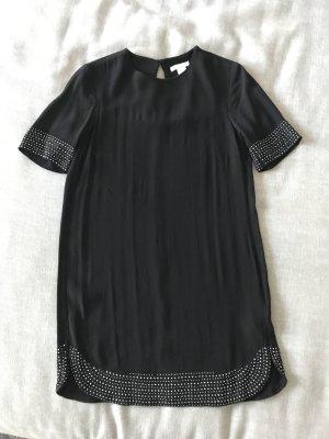 H&M Kleid schwarz mit Steinen verzierung. Gr. 34 XS S Damen Top Longshirt Tunika