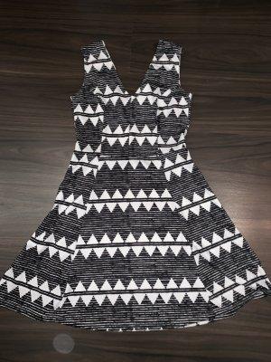 H&M Stretch jurk wit-zwart
