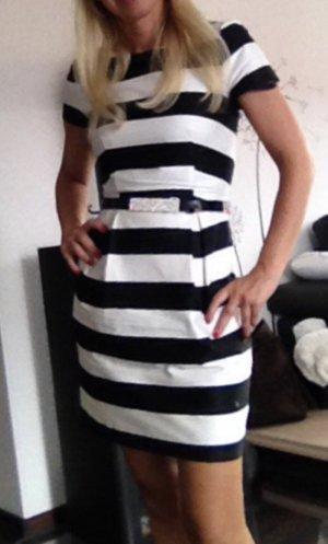 H&M Kleid schwarz weiss Gr. 34 xs