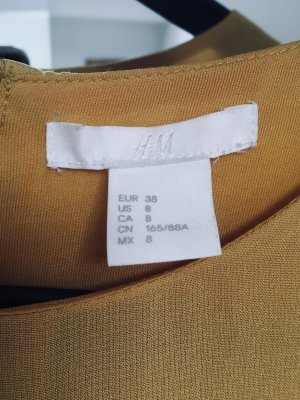 H&M Kleid Senfgelb/gelb 38