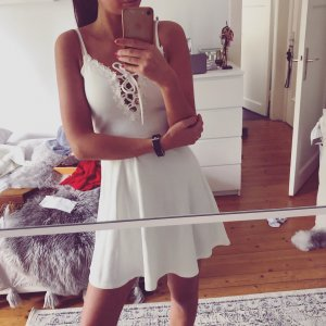 H&M Kleid Skater Lace UP Sommer Beach Strand