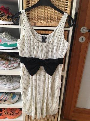 H&M Babydoll Dress white-black