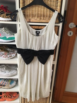 H&M Babydoll-jurk wit-zwart