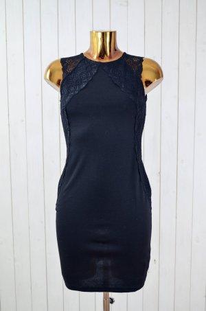 H&M Kleid Sommerkleid Cocktail-Kleid Spitzenkleid Schwarz Spitze Träger Gr. S