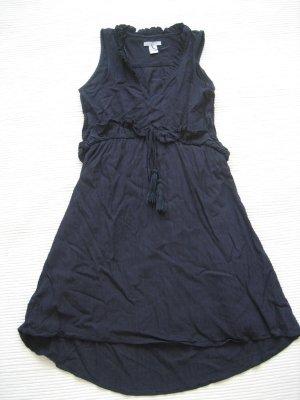 h&M kleid sommerkleid dunkelblau neuwertig gr. s 36