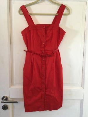 H&M Kleid Sommerkleid rot Gr. 36