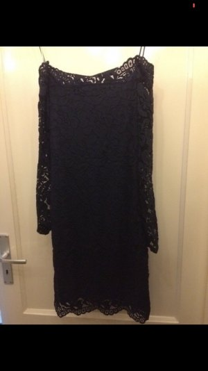 H&M Vestido strapless azul oscuro-azul
