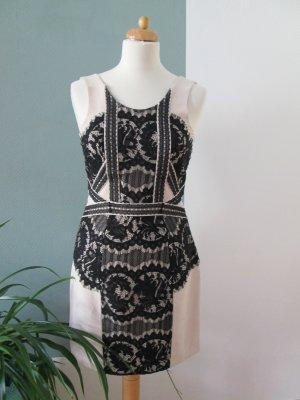 H&M Kleid Spitze schwarz nude Gr.36 neu