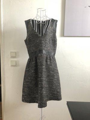 H&m Kleid, Strukturkleid, 42, glitzer, grau