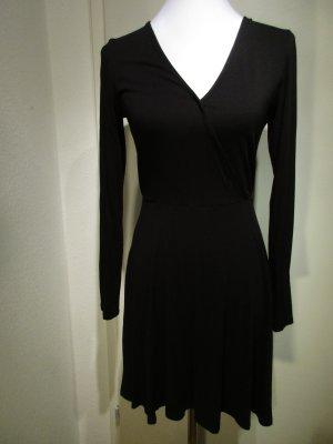 H&M Kleid, Tanz-Training, V-Ausschnitt, Langarm, schwarz-Größe 38