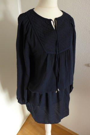 H&M Kleid Tunika Boho Hippie Sommer dunkelblau Gr. 34 wie neu