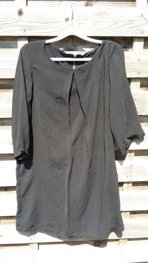 H&M Kleid Tunika schwarz, Gr. 44