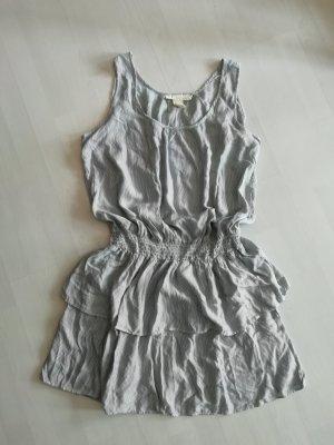 H&M Kleid Volants Peplum Streifen Minikleid Sommer