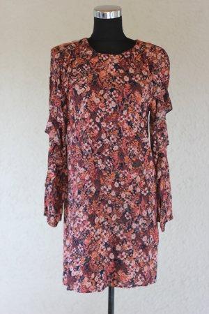 H&M Kleid, Volants, Rüschen, Blumenprint, Blumen, blogger