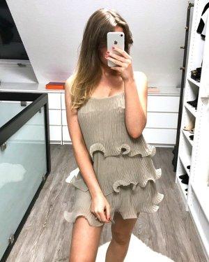 H&M Mini vestido marrón grisáceo-beige