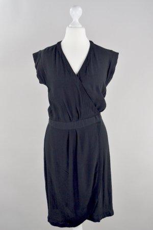 H&M Kleid Wickelkleid schwarz Größe 36