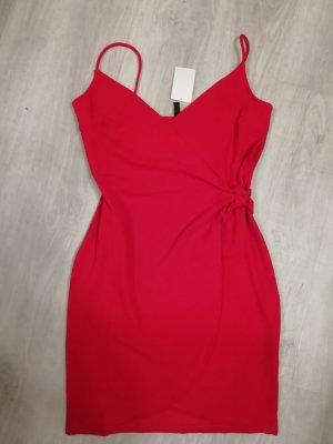 H&M Kleid Wrap Wickeloptik Minikleid rot M