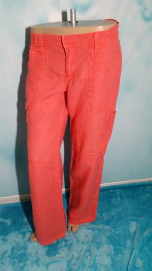 H&M knalligen Cargohose Orange/Lachs Gr M 38/40
