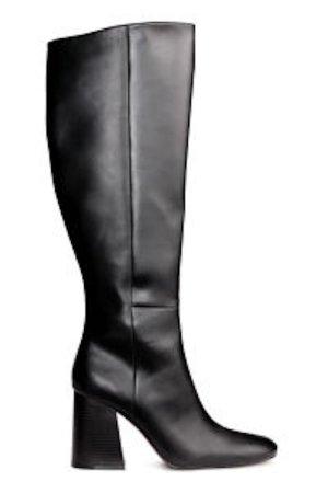 H&M Kniehohe Stiefel 39 Schwarz