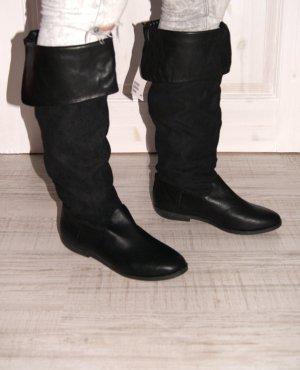 H&M Kniehohe Stiefel, Knee-Highs, schwarz,  Gr. 41 Neu