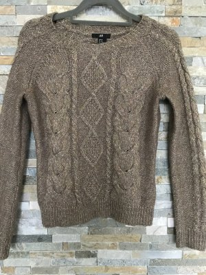 H&M Knittel Zopfmuster Pullover in xs